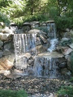 Backyard pond pondless waterfall and water garden kits ask home design Small waterfall kit